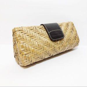 Tommy Bahama Wicker Straw Clutch Bag